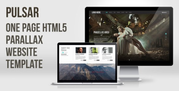 Pulsar - One Page HTML5 Parallax Website Template