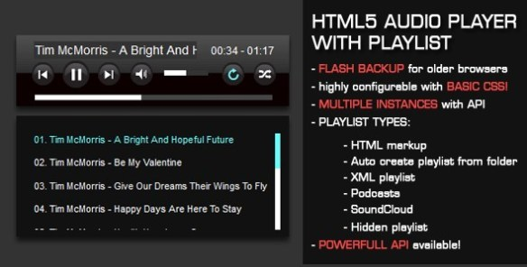 HTML5 Audio Player with Playlist - CodeCanyon Item for Sale