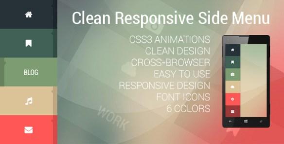 Clean Responsive Side Menu