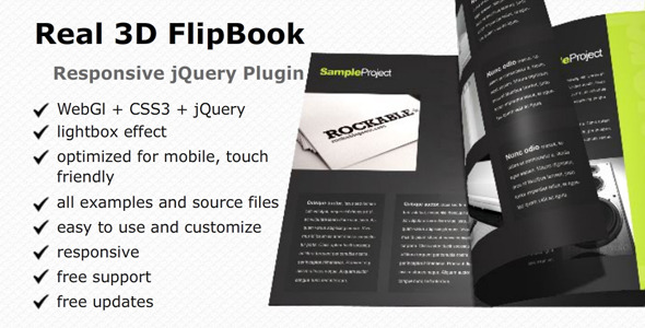 Real 3D FlipBook - responsive jQuery plugin - CodeCanyon Item for Sale