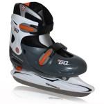 Nijdam verstelbare ijshockeyschaatsen grijs/oranje kinderen