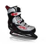 V3tec verstelbare ijshockeyschaatsen zwart/grijs kinderen