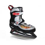 V3tec verstelbare ijshockeyschaatsen zwart/grijs/oranje kinderen