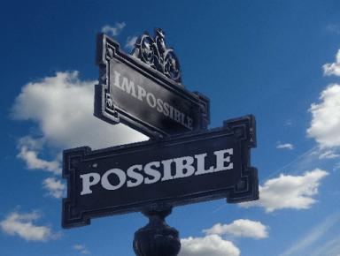 Panneau de direction avec deux directions : Impossible et Possible.