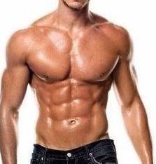 男らしい体型