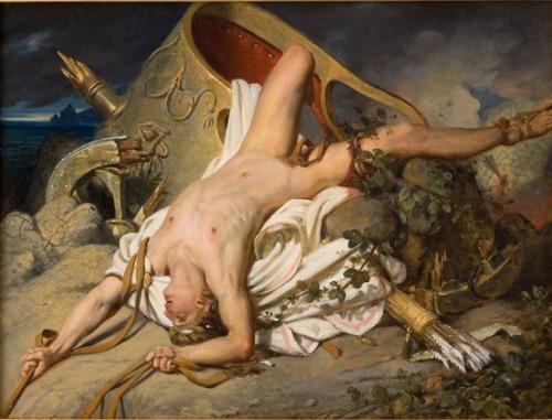 The Death of Hippolytus (1825). Joseph Désiré Court. Oil on canvas - 35 x 46cm. Musée Fabre, Montpellier Agglomération