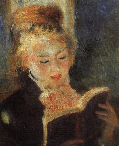 fuckyeahimpressionism:Woman Reading, Renoir 1874