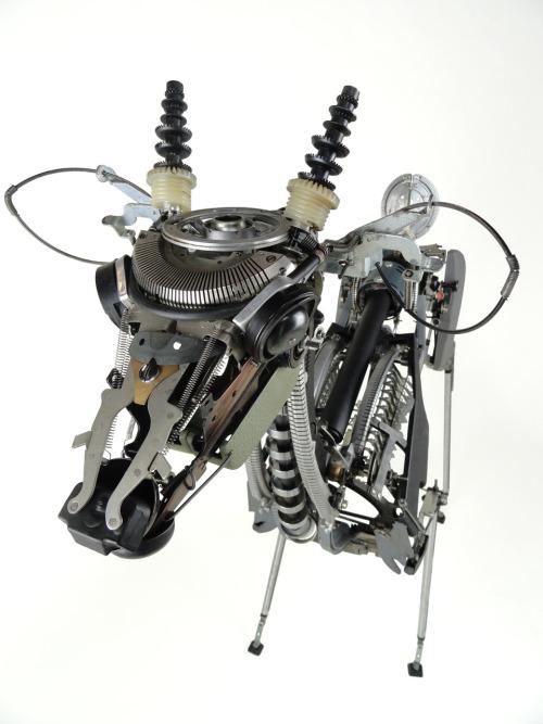 "Deer III Typewriter parts 36""x15""x36"" 2010 Jeremy Mayer"