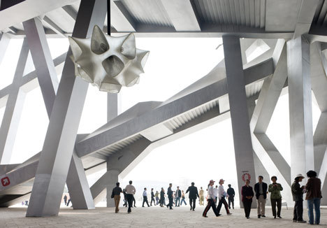 cabbagerose:  Olympic stadium by Herzog and de Meuron via: dezeen