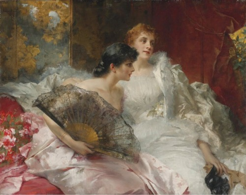 aquietsunday: Conrad Kiesel (German 1846-1921) ~ After the Ball