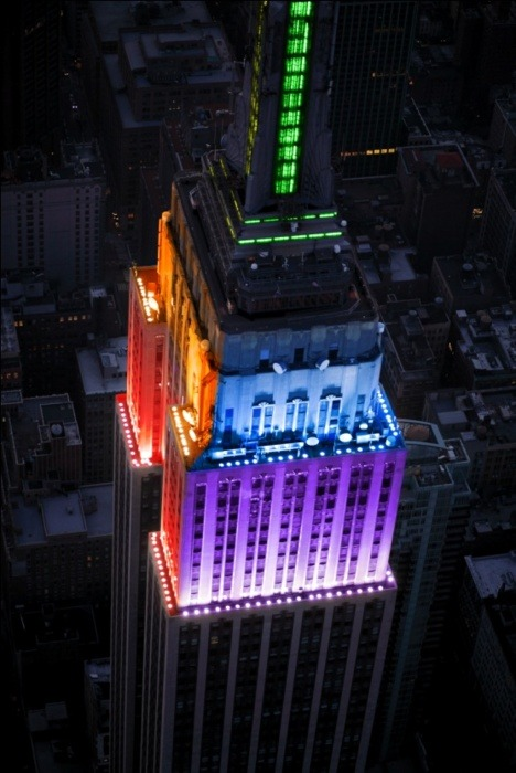 Empire State Building Rainbow