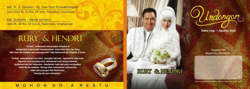 Desain Undangan Pernikahan File Cdr