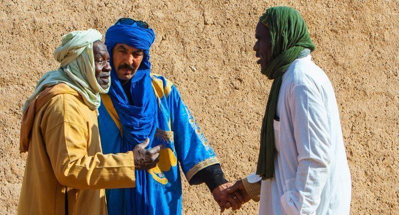 Beréberes en Erg Chebbi, Merzouga, Marruecos.