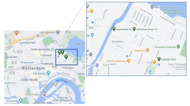 Google maps Kralingen