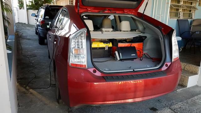 1,000 watt inverter in a Prius