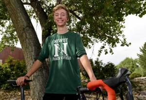 Niwot's Kenny Lang said his efforts in cycling should help him in cross country this fall. (Matthew Jonas / Boulder Daily Camera Staff Photographer)