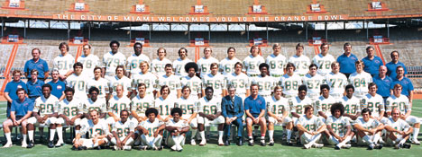 1972 Miami Dolphins Team Photo at Orange Bowl