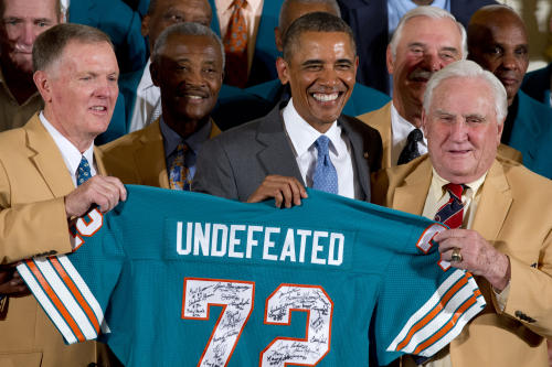Barack Obama, Don Shula, Bob Griese