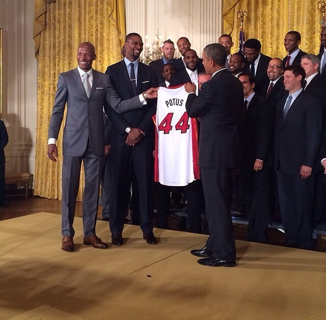 Chris Bosh Ray Allen President Obama 2014.jpg