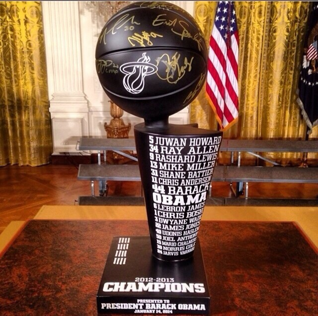 SPORTS: The Miami Heat at The White House