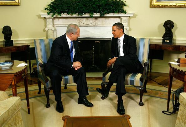 Obama and Netanyahu meeting at the White House.Zimbio.