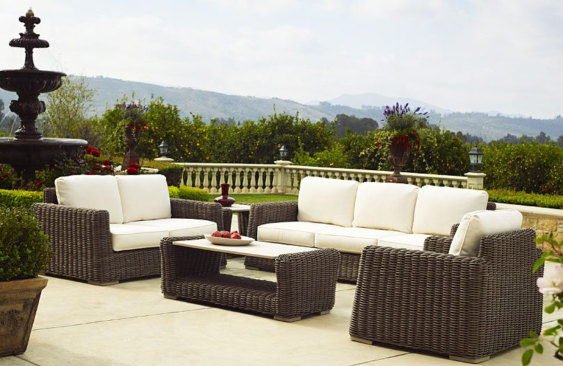 brown jordan outdoor furniture set