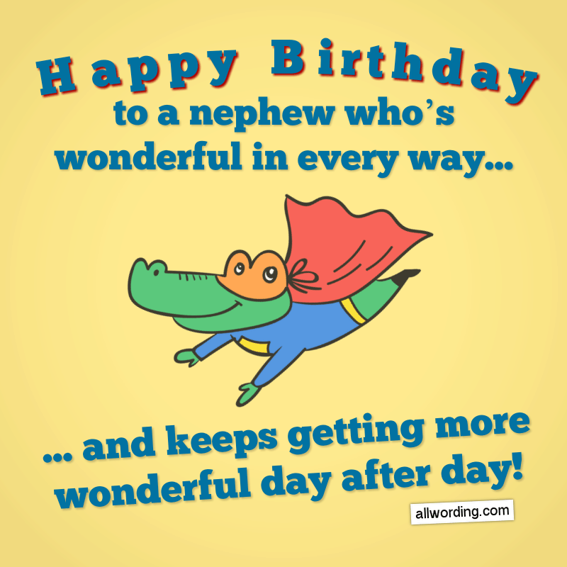 Funny Birthday Quotes For Nephew Manny Quote