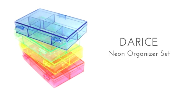 darice neon set organization