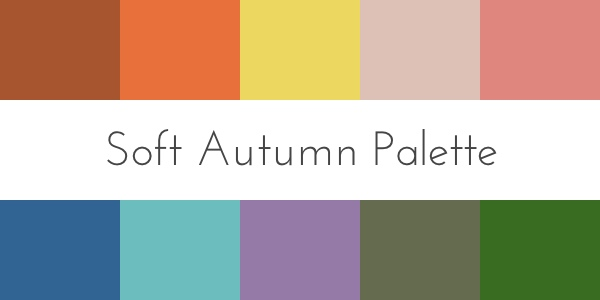 soft autumn color palette color analysis