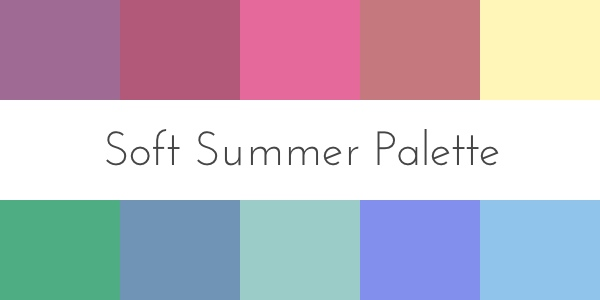 color analysis soft summer palette