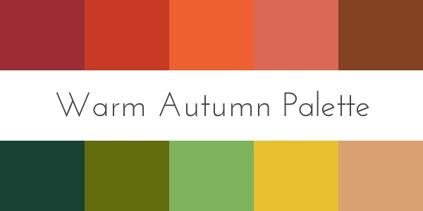 warm autumn color palette color analysis