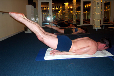Locust pose with two legs
