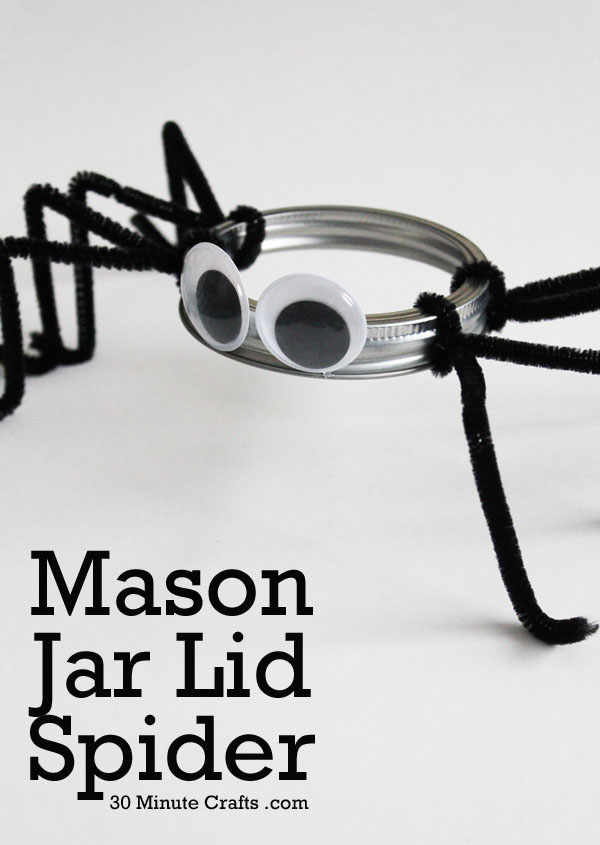 Mason Jar Lid Spider