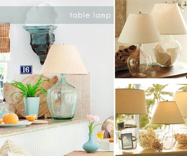 glass jug table lamp