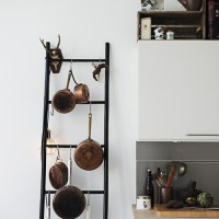 Ladder Love: Storage for Pots and Pans