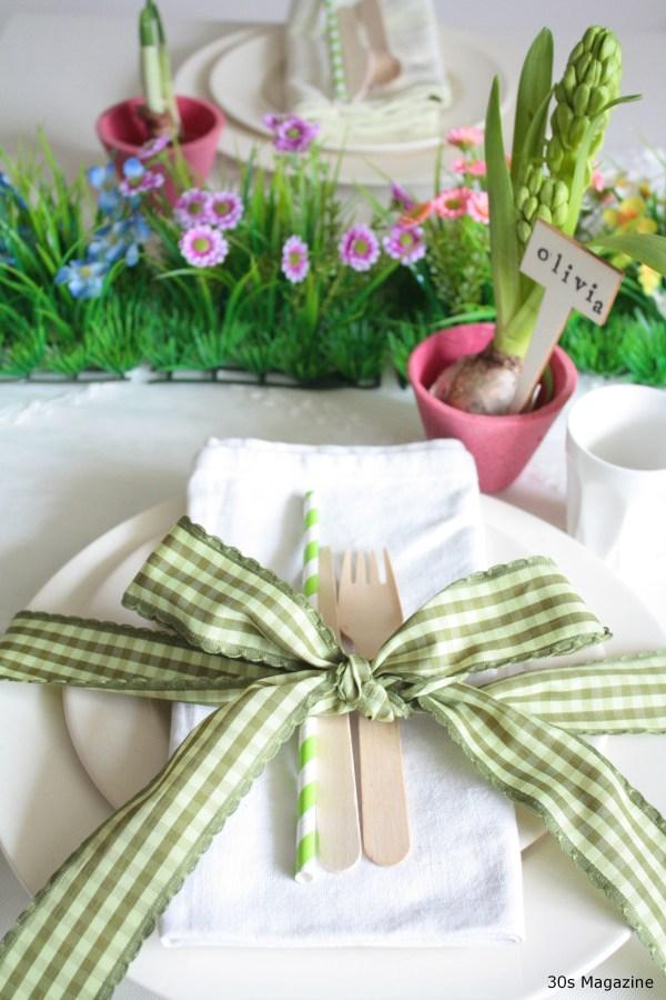 Easter garden themed table