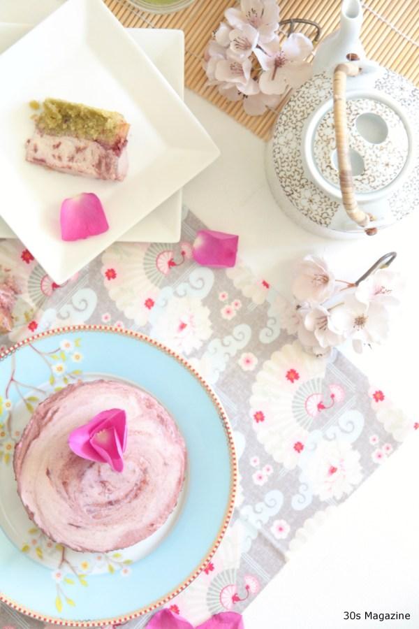 cherry blossom cheese cake