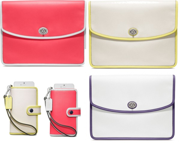 coach legacy iPad clutch