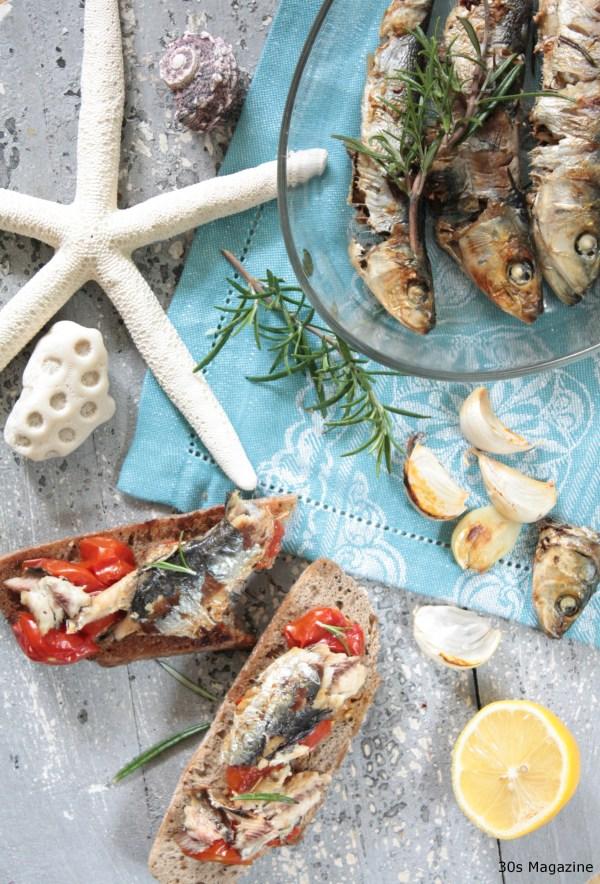 sardines bruschetta