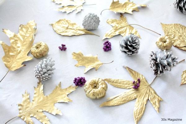 DIY gold autumn leaf