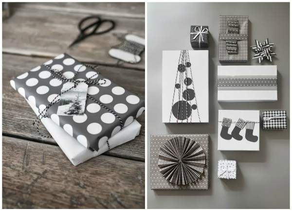 BW gift wrapping