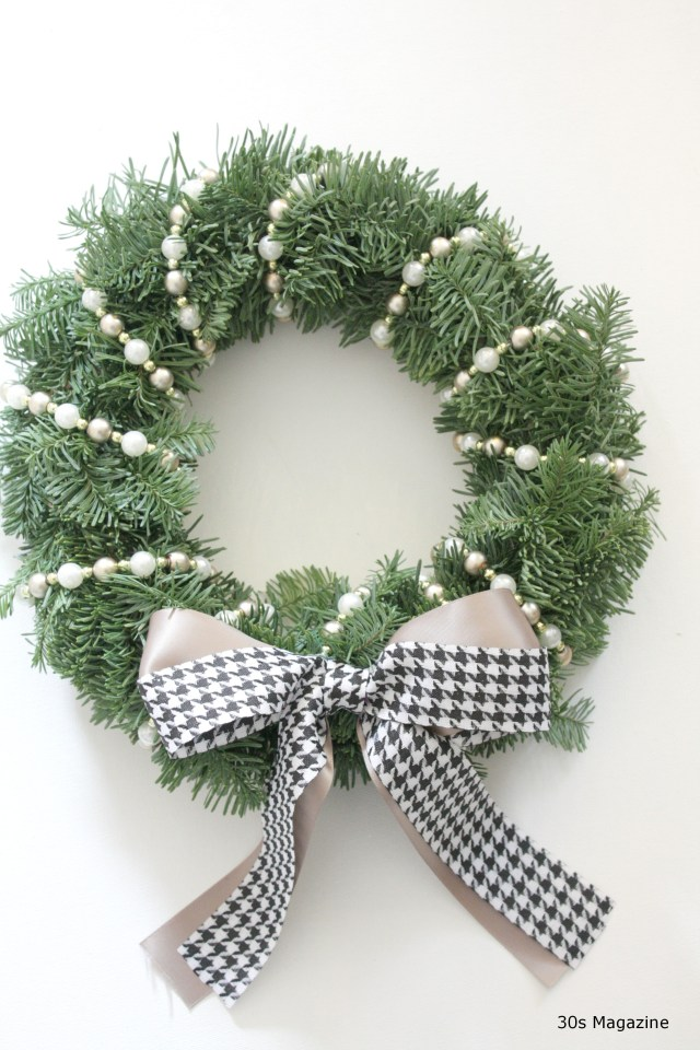 A Christmas Wreath with a nod to Audrey Hepburn