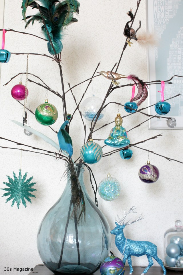 A Peacock Coloured Christmas Decor
