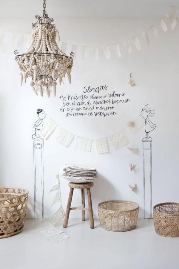 houten chandelier