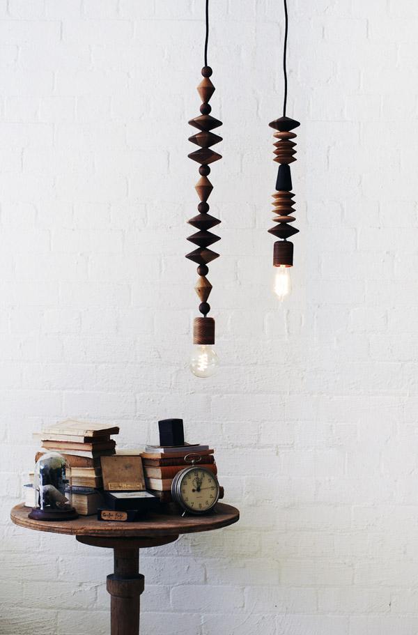 houten kralen lamp Marz_sidetable