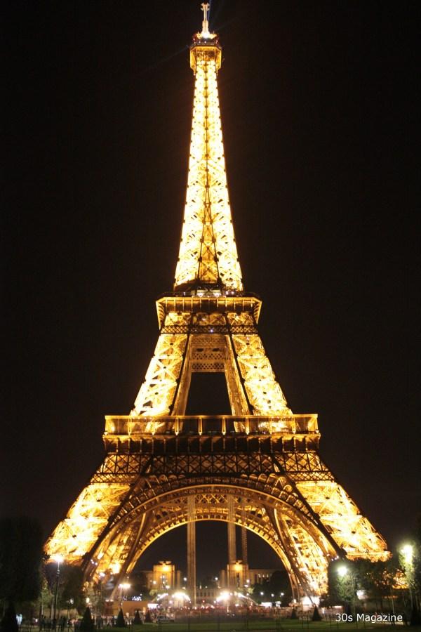 Paris by night Eiffel tower