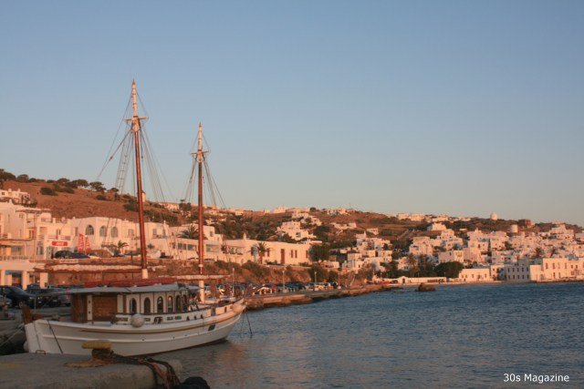 Scenic Views at Sunset in Mykonos
