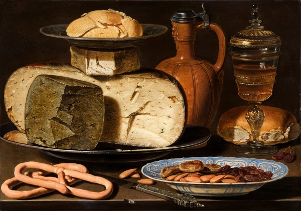 1203 Clara Peeters Still Life with Cheeses, Almonds and Pretzels Mauritshuis, Den Haag