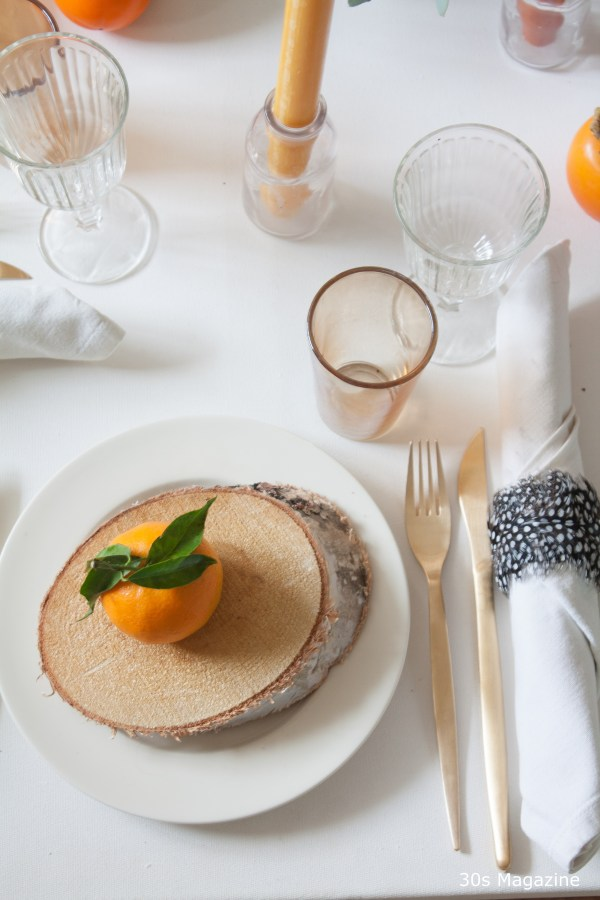 Thanksgiving table placesetting - 30s Magazine