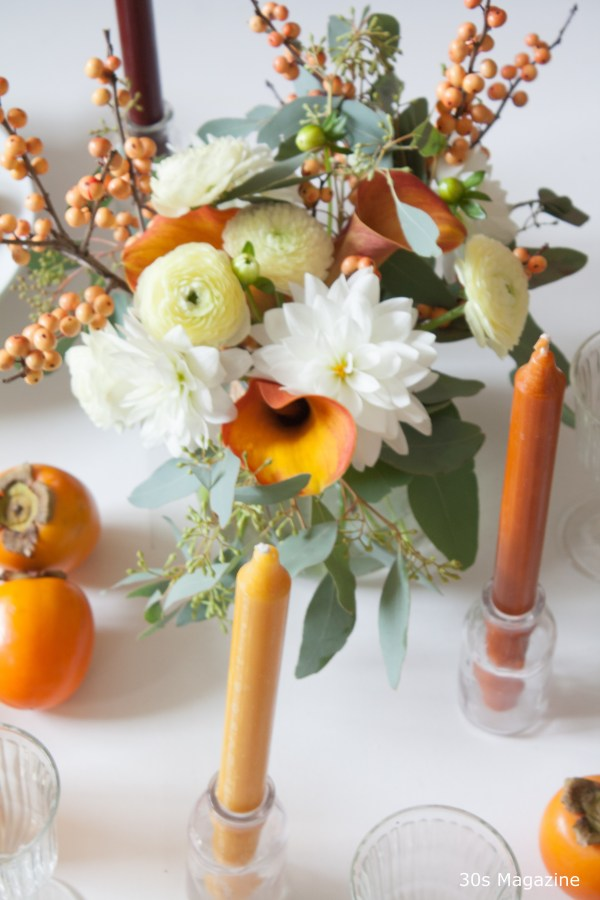 Thanksgiving tablescape - 30s magazine